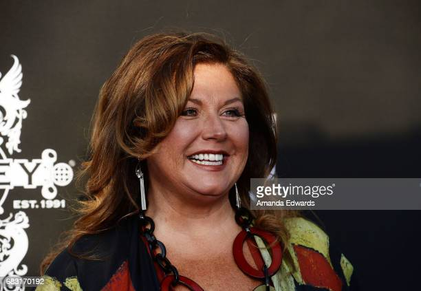 Dance instructor Abby Lee Miller arrives at the premiere screening for E's 'What Happens At The Abbey' at The Abbey on May 14 2017 in West Hollywood...