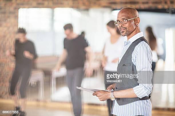 Dance instructor in studio
