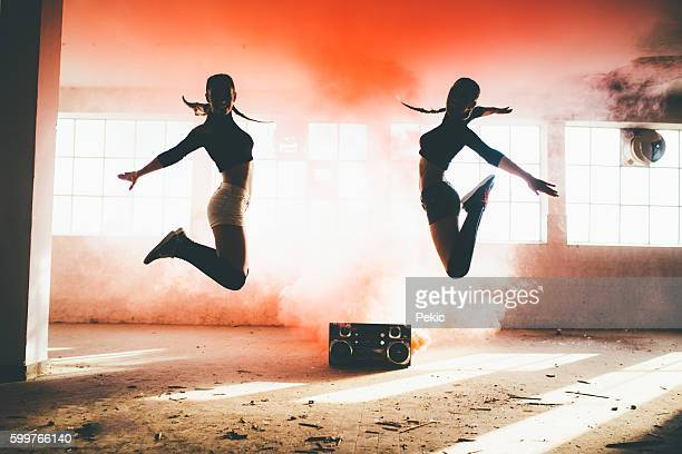 dance is power! - hip hop music stock pictures, royalty-free photos & images
