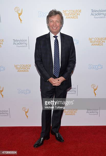 Dance judge Nigel Lythgoe attends the 36th College Television Awards at Skirball Cultural Center on April 23 2015 in Los Angeles California