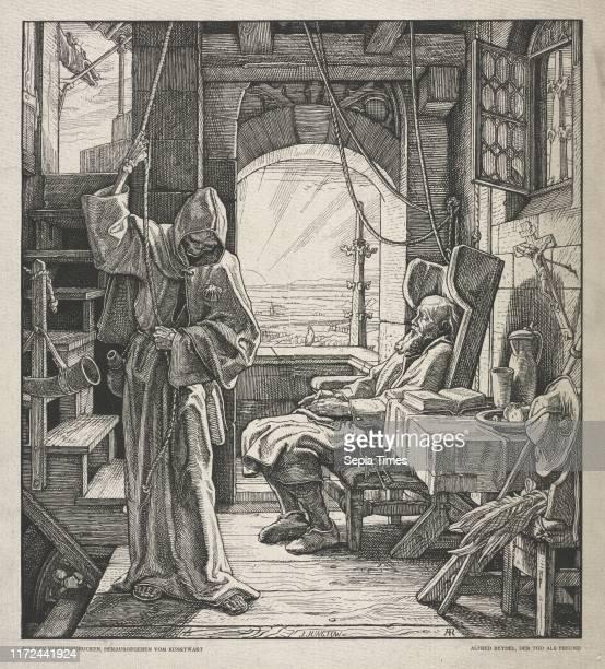 Death as a Friend 1850 Alfred Rethel Woodcut