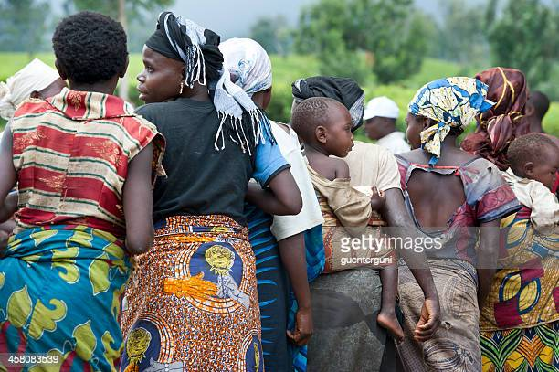 dance of the twa pygmies, east kivu, congo - democratic republic of the congo stock photos and pictures