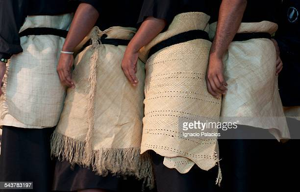 dance performance during the heilala festival - tonga stock pictures, royalty-free photos & images