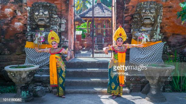Dance performance in front of temple.