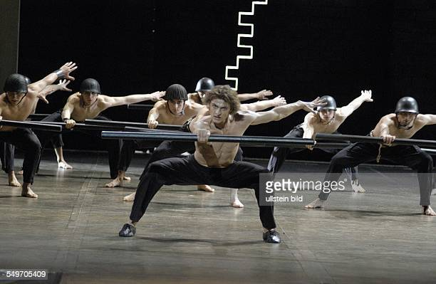 Dance project Ring around the Ring by Maurice Bejart in the Deutsche Oper Berlin scene with Wieslaw Dudek as 'Hagen' stage decoration and costumes...
