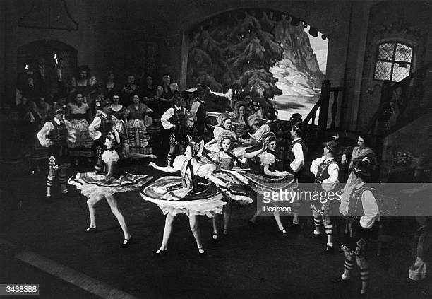 A dance scene from the 1942 revival of Ivor Novello's musical play 'The Dancing Years' Original Publication Picture Post 1117 The Dancing Years 1942...