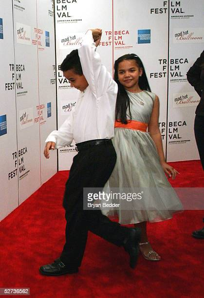 Dance students Jatnna Toririo and Wilson Castillo dance at The ASCAP Music Lounge at the Tribeca Film Festival April 29 2005 in New York City