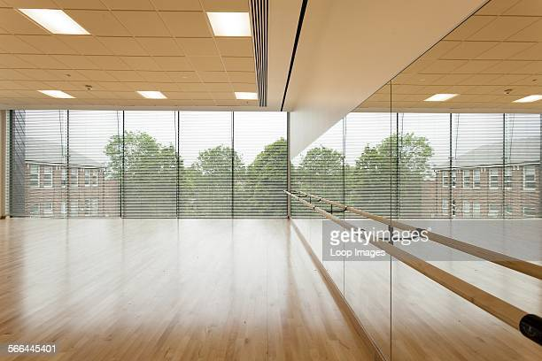 Dance studio and mirror wall at Notting Hill and Ealing High School