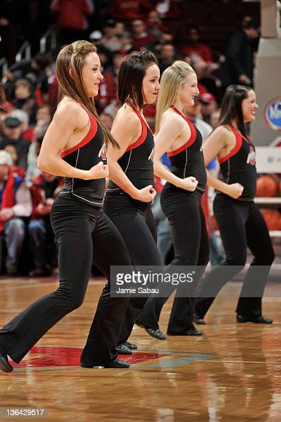 A dance team performs for the crowd during a men's basketball game between Nebraska and Ohio State on January 3 2012 at Value City Arena in Columbus...
