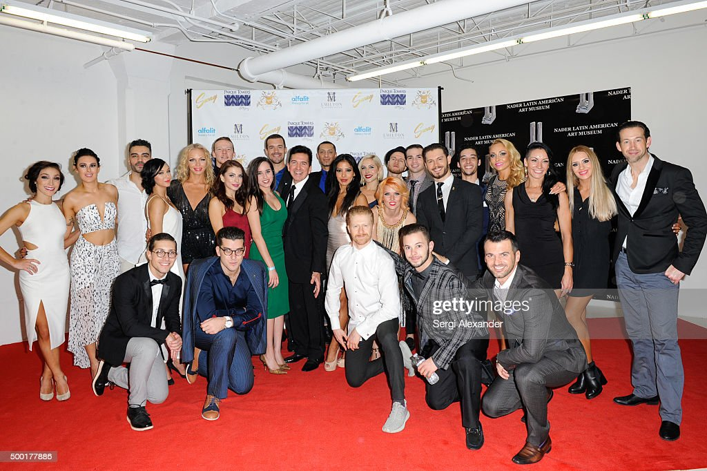 A Dance Trilogy dance group attend SWAY Alfalit Gala at Gary Nader Art centre on December 5, 2015 in Miami, Florida.