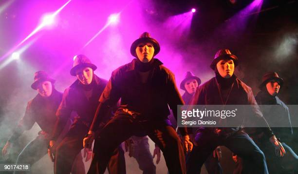 Dance troupe Jabbawockeez perform at their first headline show following their support of New Kids on the Block's tour at The Forum on August 29 2009...