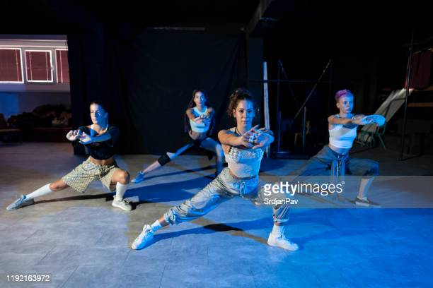 dancefloor is ours! - rehearsal stock pictures, royalty-free photos & images