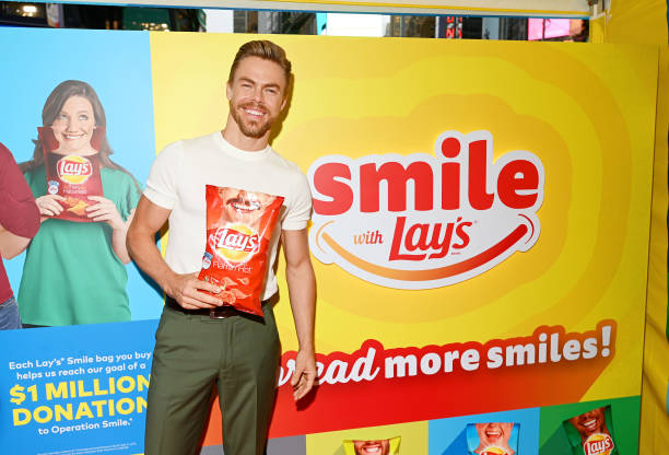 NY: Dancer, Actor And Singer Derek Hough Kicks Off The Lay's Smiles Campaign By Unveiling The First-Ever Smiles Station In Times Square