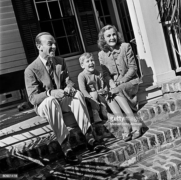 Dancer actor and singer Fred Astaire poses for the camera with his wife Phyllis and son Fred Jr during a photo session circa 1940 in Los Angeles...