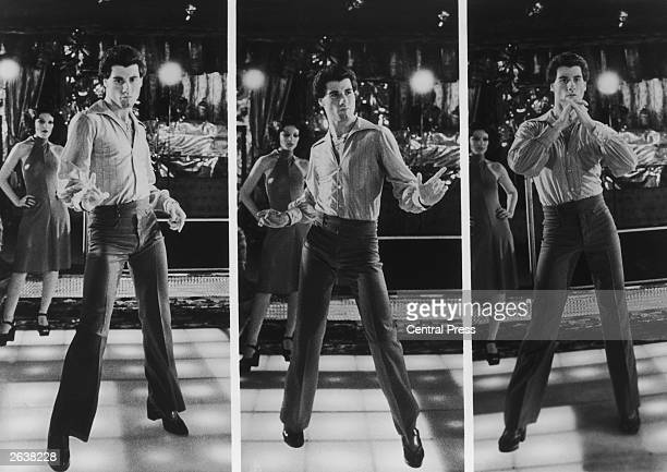 Dancer actor icon and all round cool guy John Travolta as Tony Manero disco dancing in the hit film 'Saturday Night Fever' directed by John Badhamfor...