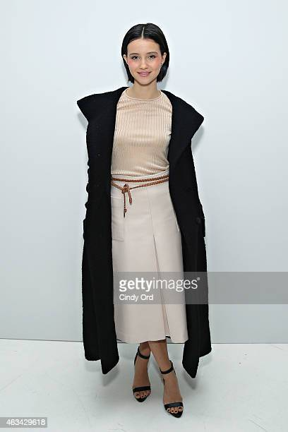 Dancer/ actress Julia Goldani Telles attends the Jill Stuart fashion show during MercedesBenz Fashion Week Fall 2015 at Location05 on February 14...