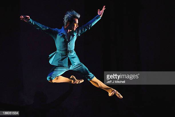 Dancer Adam Blyde who is Bluebird in the Scottish Ballet's current production of 'Sleeping Beauty' at the Theatre Royal on December 16 2011 in...