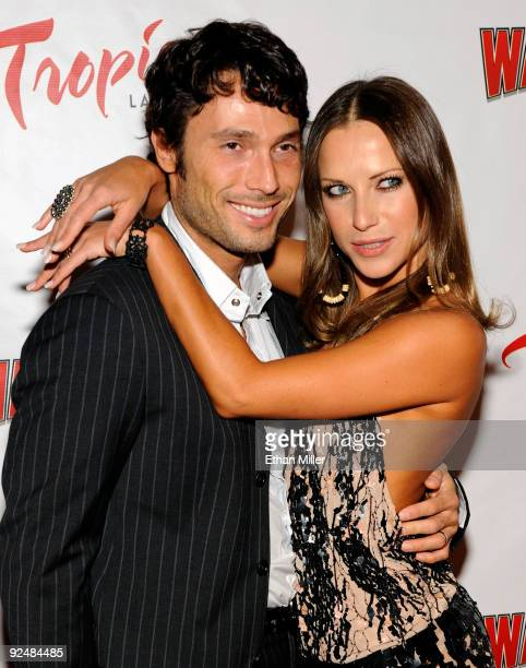 Dancer Alec Mazo and his wife dancer Edyta Sliwinska arrive at the opening of Wayne Newton's limitedengagement production Once Before I Go at the...