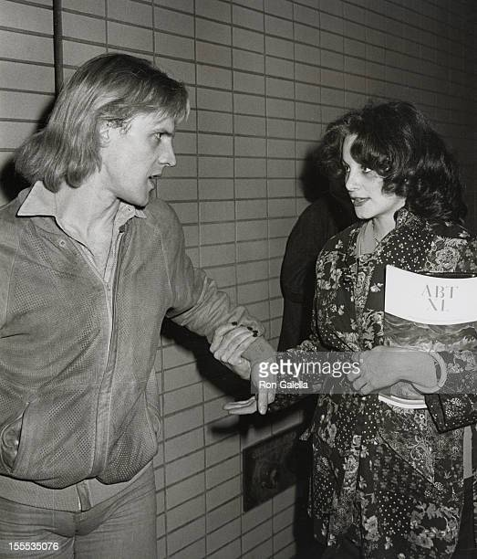 Dancer Alexander Godunov and date attend 40th Anniversary Party for the American Dance Theater on May 4 1980 at Lincoln Center in New York City