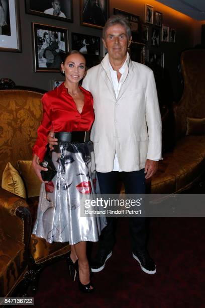 Dancer Alexandra Cardinale and her companion CEO of Hotel Barriere Dominique Desseigne attend the Reopening of the Hotel Barriere Le Fouquet's Paris...