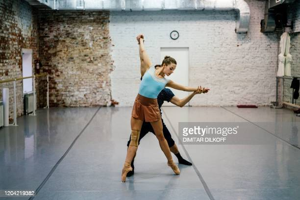 Dancer Alexandra Kirshina rehearses on pointes made at Grishko company especially for her in Moscow on February 25 2020 Born in the chaos of the...