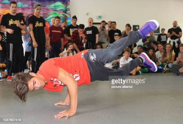Dancer Alexi from Berlin takes part in the competition 'Kingz of the Circle' in Halle/SaaleGermany 15 August 2014 In total 16 participants from all...