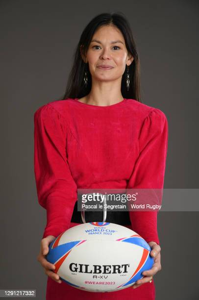 Dancer, Alice Renavand poses for a photo during the Rugby World Cup France 2023 draw at Palais Brongniart on December 14, 2020 in Paris, France