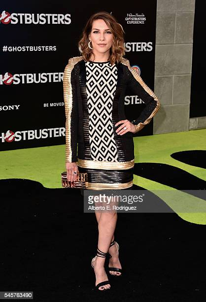Dancer Alison Holker arrives at the Premiere of Sony Pictures' 'Ghostbusters' at TCL Chinese Theatre on July 9 2016 in Hollywood California