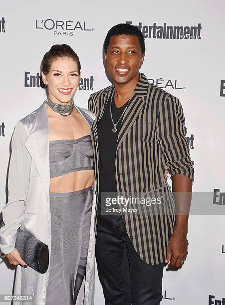 Dancer Allison Holker and singer/musician Kenny 'Babyface' Edmonds attend the Entertainment Weekly's 2016 PreEmmy Party held at Nightingale Plaza on...