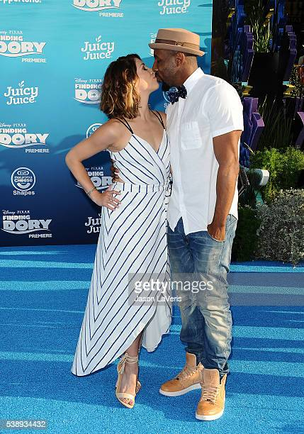 """Dancer Allison Holker and Stephen """"tWitch"""" Boss attend the premiere of """"Finding Dory"""" at the El Capitan Theatre on June 8, 2016 in Hollywood,..."""
