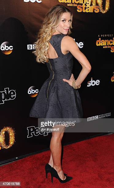 """Dancer Allison Holker arrives at the 10th Anniversary Of """"Dancing With The Stars"""" Party at Greystone Manor on April 21, 2015 in West Hollywood,..."""