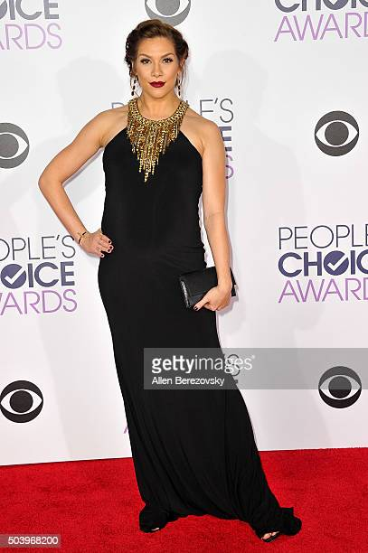 Dancer Allison Holker arrives at the People's Choice Awards 2016 at Microsoft Theater on January 6 2016 in Los Angeles California