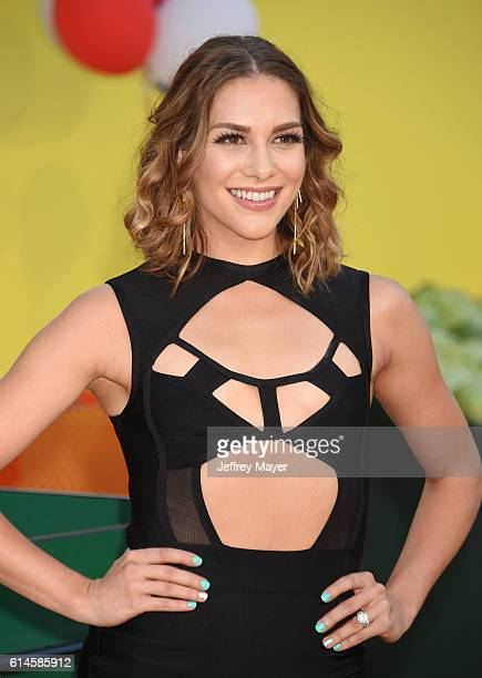 Dancer Allison Holker arrives at the Premiere Of Sony's 'Sausage Party' at Regency Village Theatre on August 9 2016 in Westwood California