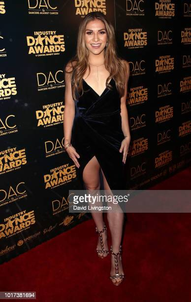Dancer Allison Holker attends the 2018 Industry Dance Awards at Avalon Hollywood on August 15 2018 in Los Angeles California