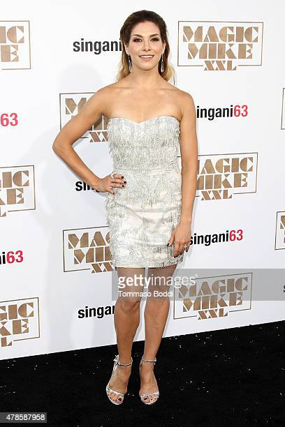 Dancer Allison Holker attends the Los Angeles world premiere of Warner Bros Pictures' Magic Mike XXL held at TCL Chinese Theatre IMAX on June 25 2015...