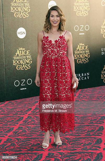 Dancer Allison Holker attends the premiere of Disney's Alice Through The Looking Glass at the El Capitan Theatre on May 23 2016 in Hollywood...