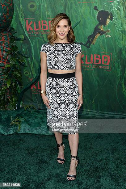 Dancer Allison Holker attends the premiere of Focus Features' 'Kubo and the Two Strings' at AMC Universal City Walk on August 14 2016 in Universal...