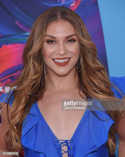 US dancer Allison Holker attends the Teen Choice Awards 2018 in Los Angeles California on August 12 2018