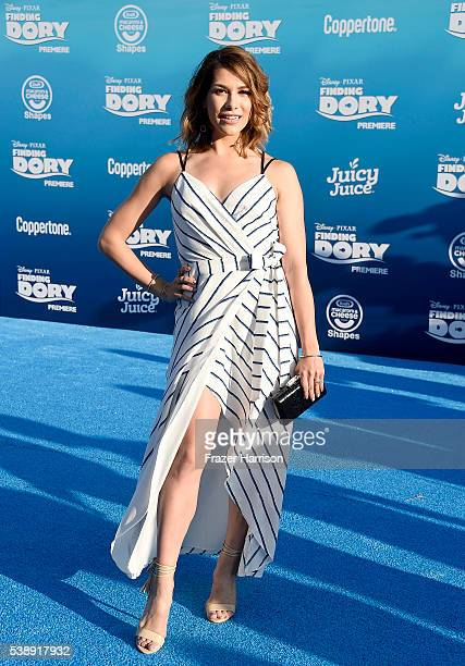 Dancer Allison Holker attends the world premiere of DisneyPixar's 'Finding Dory' at the El Capitan Theatre on June 8 2016 in Hollywood California