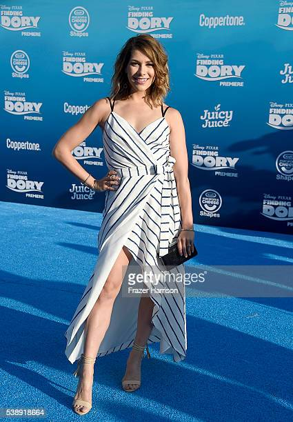 Dancer Allison Holker attends the world premiere of Disney-Pixar's 'Finding Dory' at the El Capitan Theatre on June 8, 2016 in Hollywood, California.