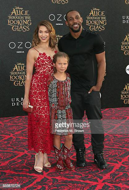 Dancer Allison Holker daughter Weslie Fowler and dancer Stephen 'tWitch' Boss attend the premiere of Disney's Alice Through The Looking Glass at the...