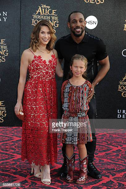 Dancer Allison Holker daughter Weslie Fowler and dancer Stephen 'tWitch' Boss attend the premiere of Disney's 'Alice Through the Looking Glass' at...
