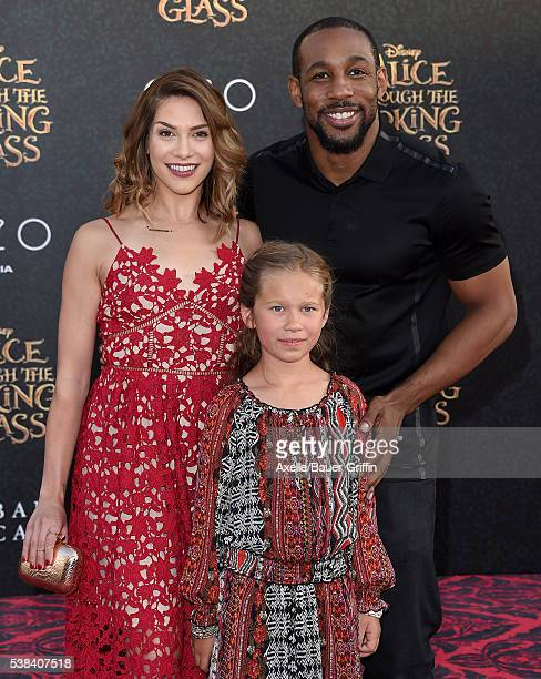 Dancer Allison Holker daughter Weslie Fowler and dancer Stephen 'tWitch' Boss arrive at the premiere of Disney's 'Alice Through The Looking Glass' at...