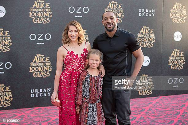 Dancer Allison Holker daughter Weslie Fowler and dancer Stephen 'Twitch' Boss attends the premiere of Disney's Alice Through The Looking Glass at the...