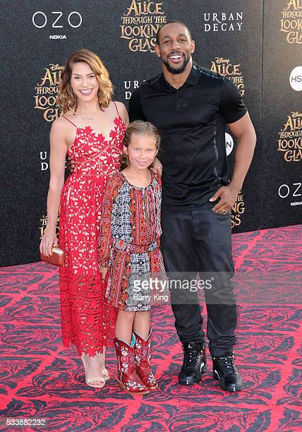 Dancer Allison Holker daughter Weslie Renae Fowler and tv personality Stephen 'tWitch' Boss attend the premiere of Disney's' 'Alice Through The...