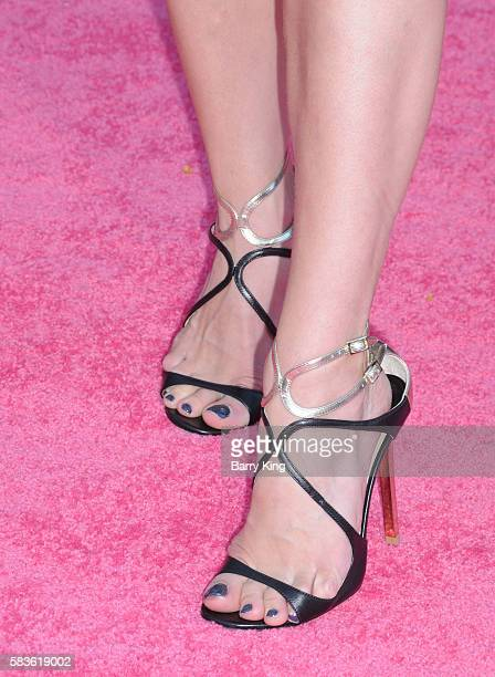 Dancer Allison Holker shoe detail attends the premiere of STX Entertainment's' 'Bad Moms' at Mann Village Theatre on July 26 2016 in Westwood...