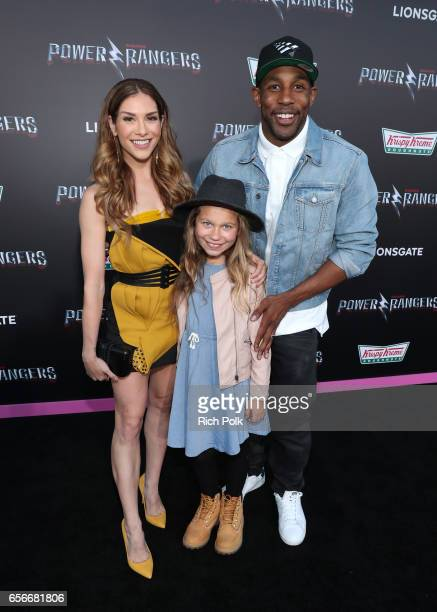 Dancer Allison Holker Weslie Fowler and Dancer Stephen tWitch Boss at The LA Premiere of Saban's Power Rangers presented by Lionsgate at Fox Bruin...