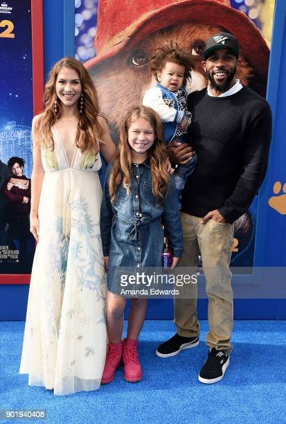 Dancer Allison Holker Weslie Fowler Maddox Laurel Boss and Stephen tWitch Boss arrive at the premiere of Warner Bros Pictures' Paddington 2 at the...