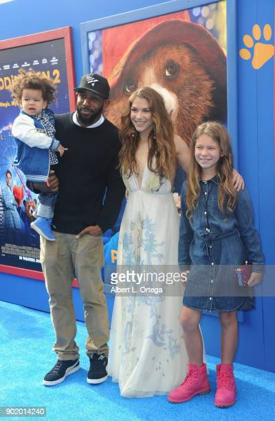 Dancer Allison Holker Weslie Fowler Maddox Laurel Boss and Stephen 'tWitch' Boss arrive for the premiere of Warner Bros Pictures' Paddington 2 held...