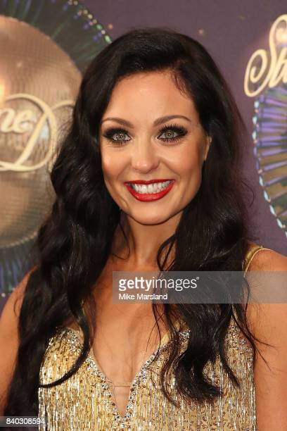 Dancer Amy Dowden attends the 'Strictly Come Dancing 2017' red carpet launch at The Piazza on August 28 2017 in London England